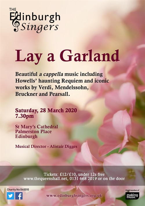 Lay a Garland flyer